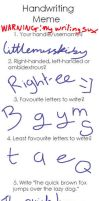 My Handwriting is GREAT by littlemisskirby