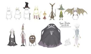 The Moomins- Tim Burton style by Yanir-Yehuda