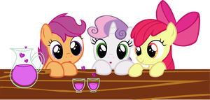 Cutie Mark Crusaders and love Poison by Vector-Brony