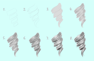 VIDEO TUTORIAL - How To Draw: Hair Curl by Kipichuu