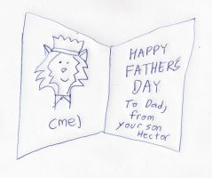 Hector's Father's Day card to his father by dth1971