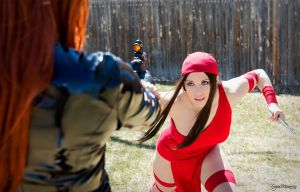 Black Widow vs. Elektra by Crazy-J19