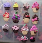 KAWAII FLAT CUPCAKE CRAZE by jadelushdesigns