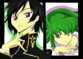 Lelouch and CC by AMu23M1