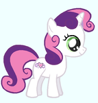 G4 Sweetie Belle in G3 Colors by AClockworkKitten