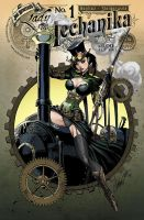 Lady Mechanika 1 cover variant by J-Scott-Campbell