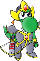Yoshi in Hallowed Armour by Assassin--Knight