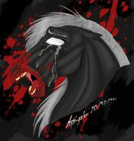 A loud cry of Pain-color by Aspi-Galou