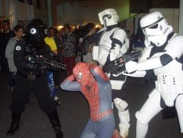 Spiderman under arrest by Kokakud-Master