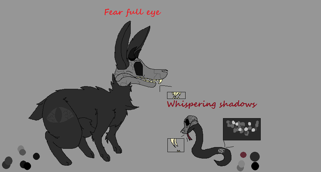 Fear full eye and whispering shadows by Isabellatheshino
