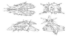 scetch spaceship by ldimonl