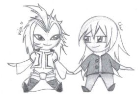 Me and Kuja Sketchy Sketch by CutesieArt