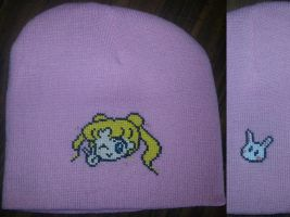 Manga Usagi/ Serena with white rabbit on back by Sew-Madd
