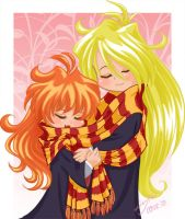 Hogwarts Slayers: LIna+Gourry by lady-narven