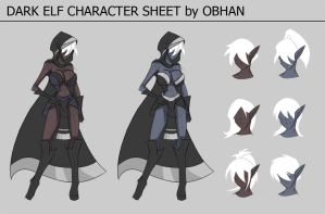 Dark Elf Character Sheet by Obhan