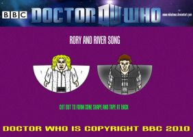Doctor Who - Rory and River by mikedaws