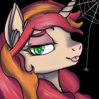 spiderweb butt icon by IBrainWashedYou
