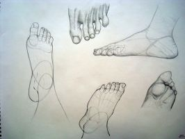 Feet Study: Unfinished by hobogonemad
