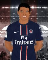 Thiago Silva Cartoon by SemihAydogdu