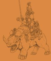 Kushuk Orc raider by Archaia