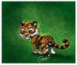 tiger doodle by fuzzypinkmonster