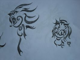 Tribal Art :Shadow + Amy: by Lou-Lou8593