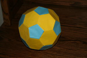 Origami soccer ball by MuggleHater