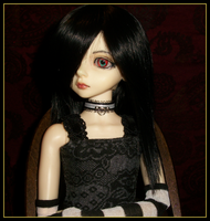 White on Black Choker Example2 -Model, Lain by NaiomeShiroami