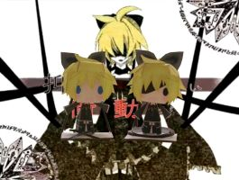 Imitation Black Len Papercraft by tsunyandere