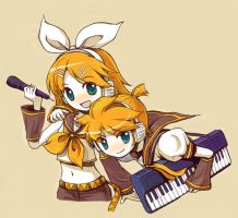 Kagamine Twins by ocarina-CD