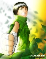 Naruto: Rock Lee Colored by v2-6
