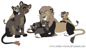 Lion Family Adopt by queenie-pie
