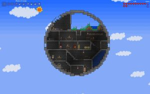 Terraria Floating Sphere House by shinypuni