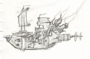 Airship sketch 2 by redpanda
