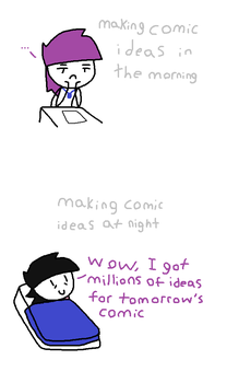 Comic Ideas: morning vs night by Wiiwario112