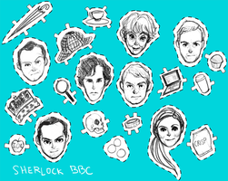 BBC Sherlock Cast by koenta
