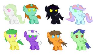 Baby Pony Adopts by CleverConflict