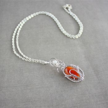 Fire Bird Necklace by WhiteSquaw