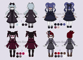 Gothic Lolita Inkling Adoptable Set 1 [250 points] by Ghiraham-Sandwich