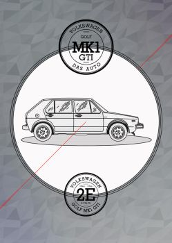 Golf Mk1 Poster Tribute by Overstone