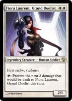 MtG - Fiora Laurent, Grand Duelist by soy-monk