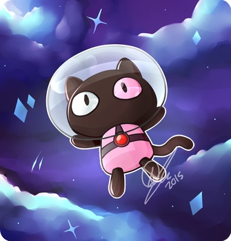 He's a pet for your tummy! Cookie cat! by KeezaPepper
