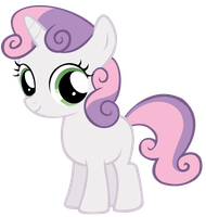 Sweetie Belle Filly (stylized) by Nerve-Gas