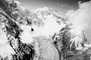 Glacier and Mountain, Denali N.P. by iamintheprocess