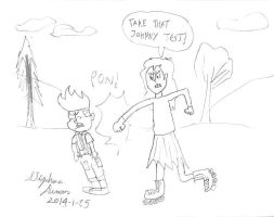 Maurecia vs Johnny Test by stephdumas