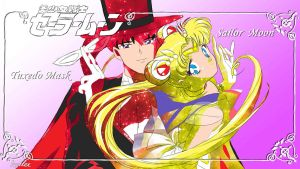 Sailor Moon And Tuxedo Mask by Kar-leeBowery