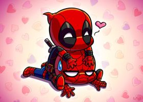 Spideypool Glomp by Red-Flare