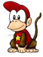 Diddy kong by Nintendrawer