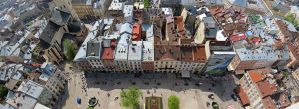 View from the town hall in Lviv by Maiyoko