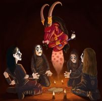 true black metal night by Skirill